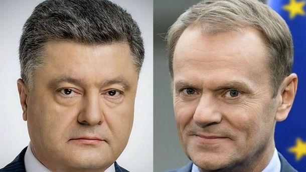 Петр Порошенко провел телефонный разговор с Дональдом Туском