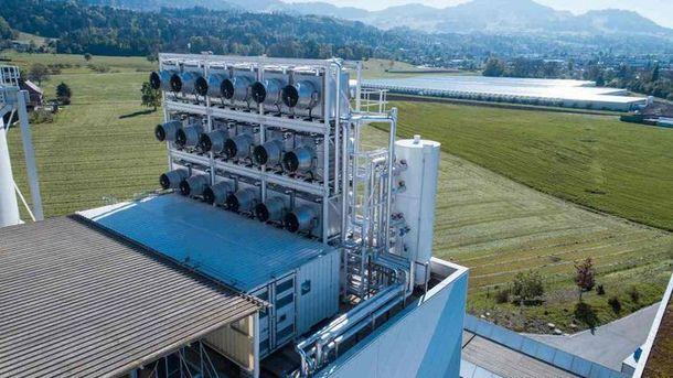 Завод з переробки вуглекислого газу в Швейцарії