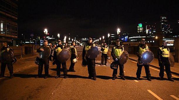 Место теракта в Лондоне