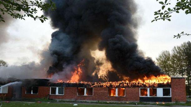 Пожар в центре для беженцев