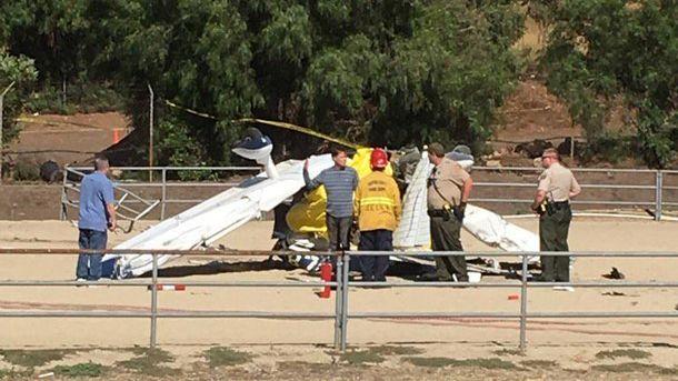 Место аварии самолета