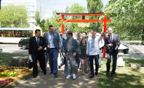 Виталий Кличко вместе с мэром Киото
