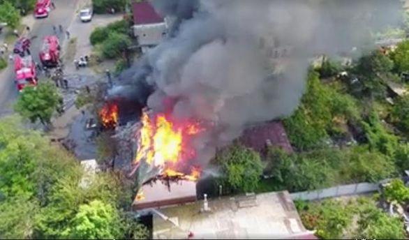 Видео пожара в Киеве