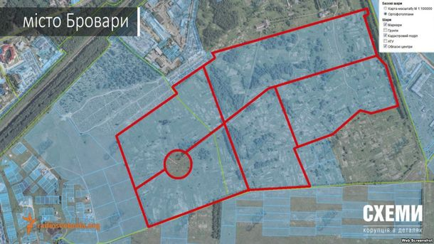 Суд повернув громаді Броварів 94 гектари землі, які належали родичу Медведєва