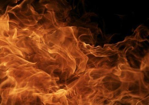 На військовому складі трапилася пожежа