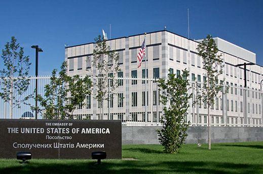 Взрыв около посольства США в Киеве полиция считает терактом