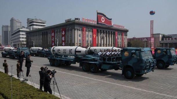 Ракети на параді в КНДР