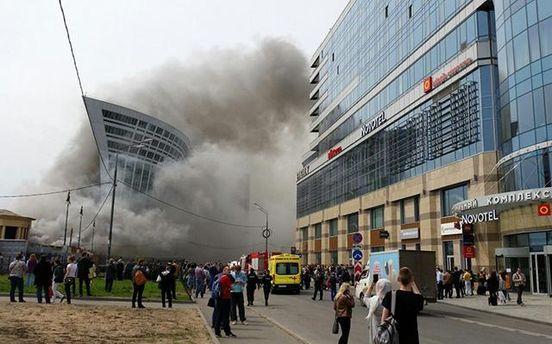 Фото пожара на Киевском вокзале в Москве