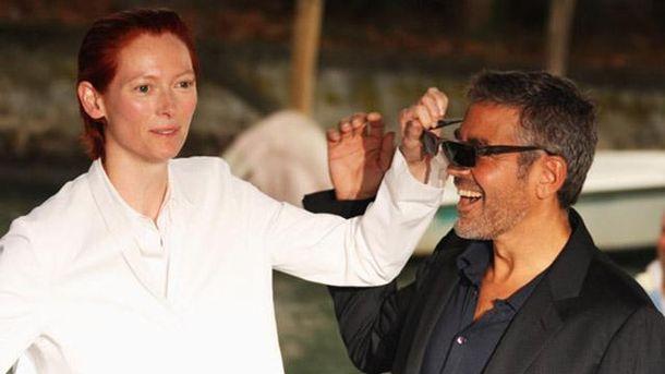 Тильда Суинтон и Джордж Клуни