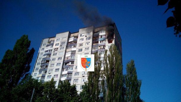 Пожежа наТеремках уКиєві: унебо піднявся чорний стовп диму