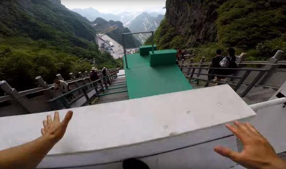 Самая длинная трасса для паркура в Китае