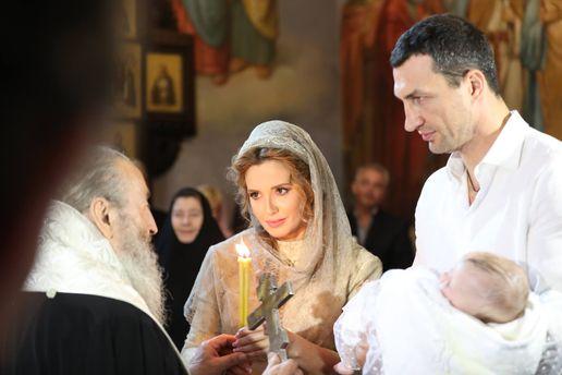 Оксана Марченко та Володимир Кличко стали хрещеними