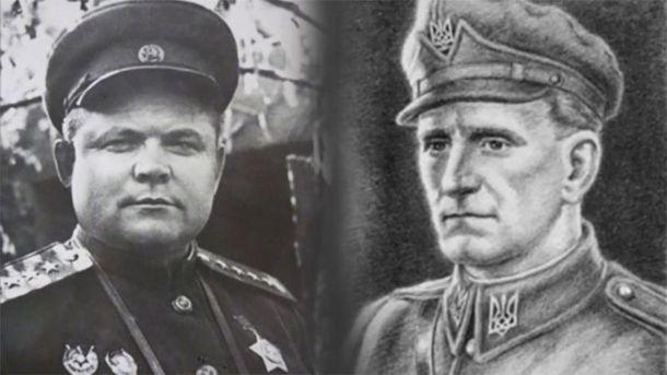 Микола Ватутін і Роман Шухевич