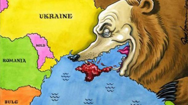 Вцентре Астаны возникла карта Украины без Крыма