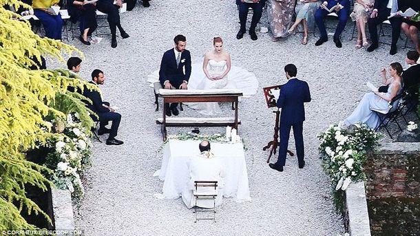 Джессіка Честейн вийшла заміж в Італії