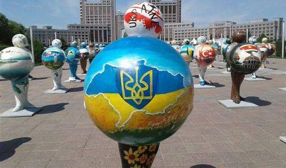 Карту України без Криму зобразили в Казахстані