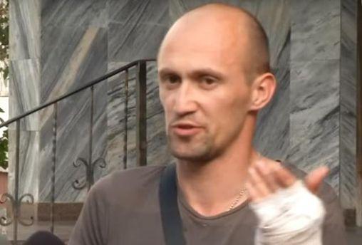 Раненый водителем маршрутки боец АТО Игорь Гемба