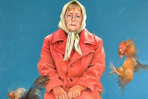 Ангела Меркель у ролі біженця