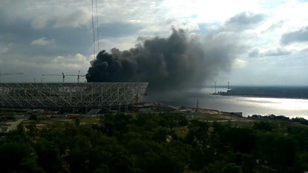 Пожежа на стадіоні ЧС 2018 у Росії