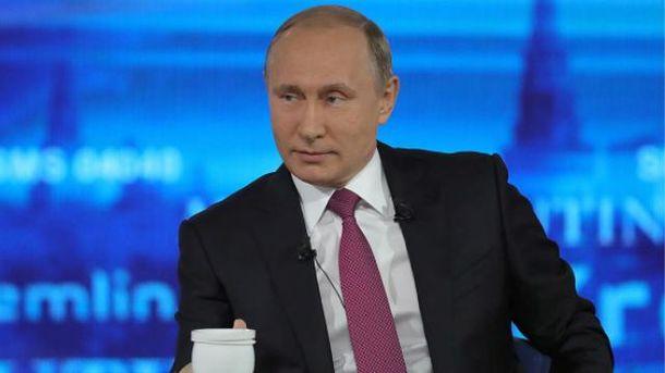 Путін вже вп'ятнадцяте відповідає на питання росіян