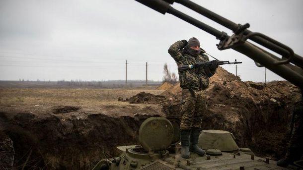 Украинский военный в зоне АТО, Авдеевка, 2017