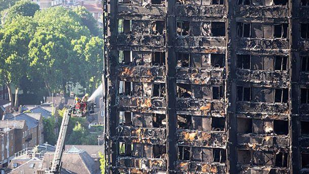 Тушение пожара в Лондоне продолжалось больше суток