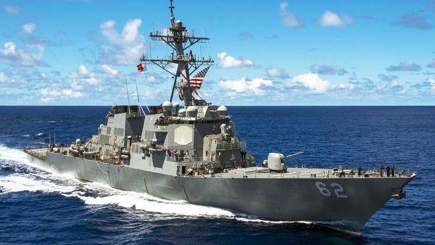 Американський есмінець зіткнувся зторговельним судном біля Японії