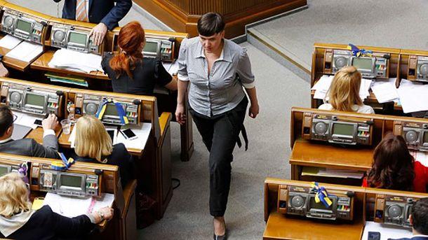 Надія Савченко розкритикувала дії президента Порошенка