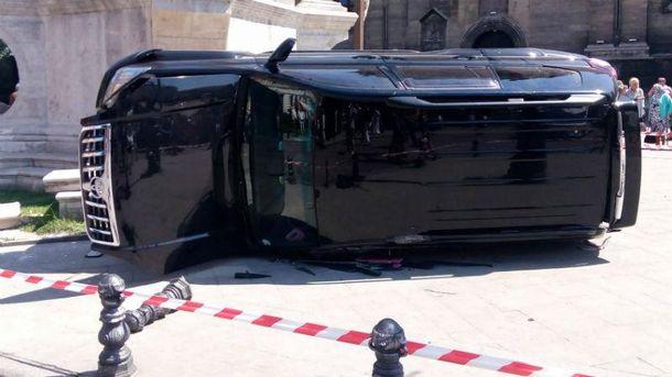Аварія у центрі Львова