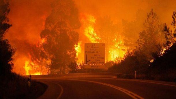Пожежі в Португалії