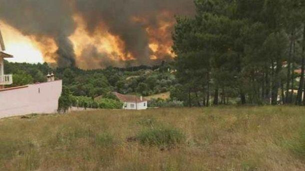 Масштабна пожежа в Португалії