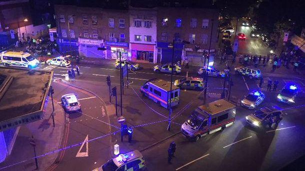 Авария в Лондоне
