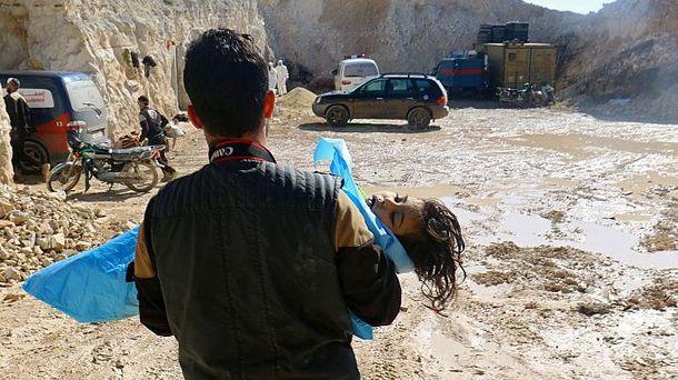 Последствия химических атак в Сирии