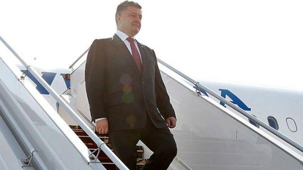 Петр Порошенко отправился с рабочим визитом в США