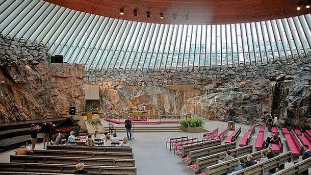 Церковь Temppeliaukio, в которой планировали совершить теракт