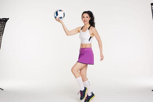 Маша Єфросиніна займається спортом