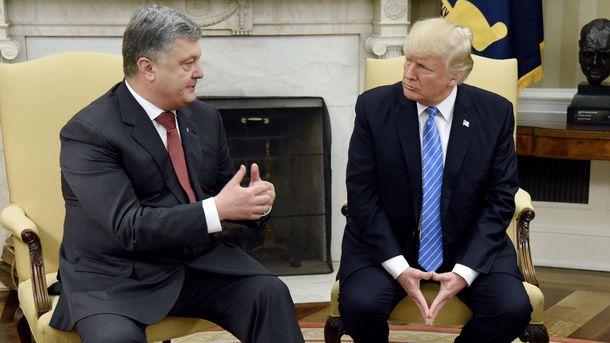 Белый Дом обнародовал свое видение встречи Порошенко и Трампа