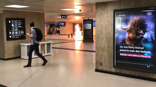 Взрыв на центральном вокзале в Брюсселе
