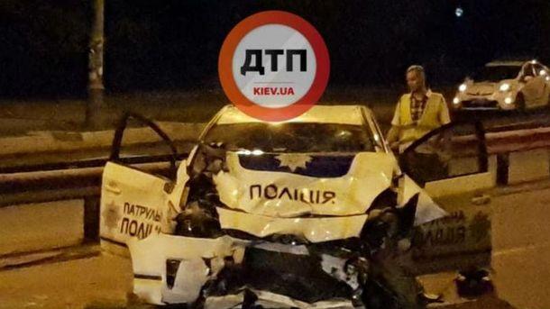 Авария с участием полиции в Киеве