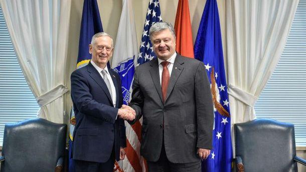 Встреча Порошенко с министром обороны США