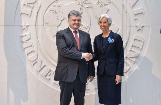 Порошенко зустрівся зглавою МВФ: говорили про пенсійну реформу