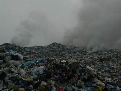 Пожежа на сміттєзвалищі