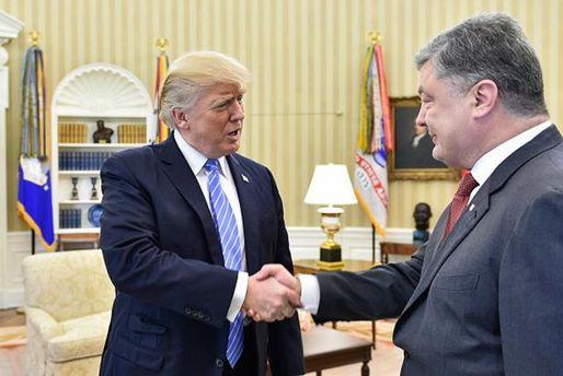 Трамп на встрече с Порошенко вел себя нетрадиционно