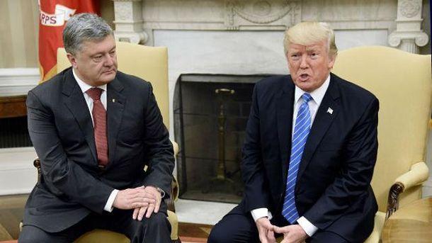 Встреча Порошенко с Трампом