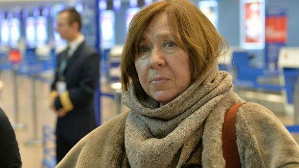 Алексієвич скандально відповіла російському пропанагдисту про війну наДонбасі