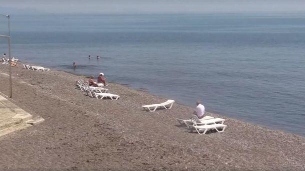 Пляж в Алуште