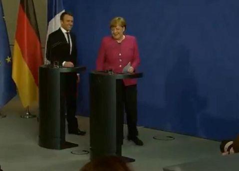 НасаммитеЕС Макрон иМеркель доложат овыполнении Минских договоров