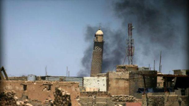 Иракские военные закрепились в100 метрах от основной мечети Мосула