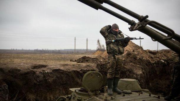 Украинский военный в зоне АТО, 2017