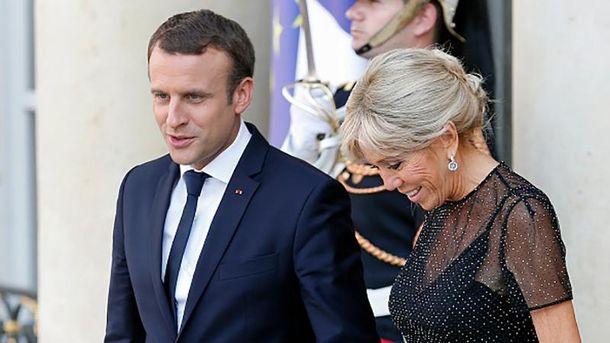 Еммануель Макрон із дружиною